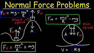Normal Force On A Hill  Centripetal Force  Roller Coaster