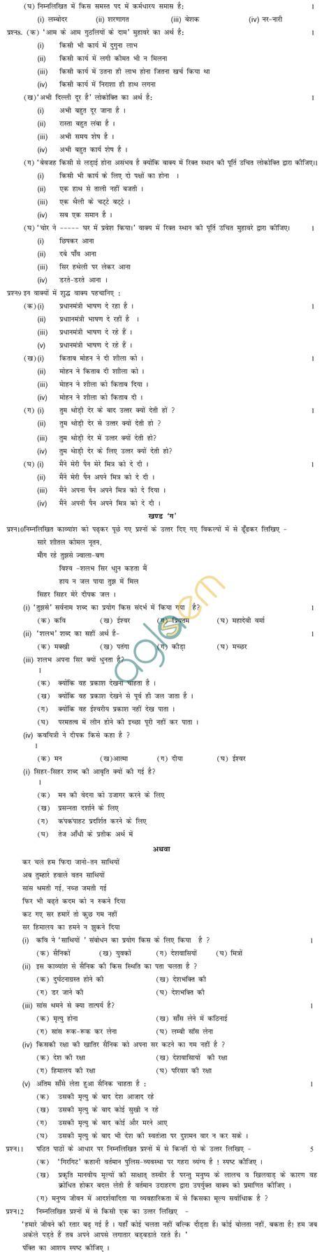 grammar worksheets for class 10 cbse sa2