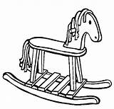 Coloring Horse Rocking Printable Danger Kid Captain Visit sketch template