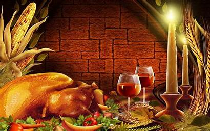 Thanksgiving Dinner Happy Desktop Wallpapers Setting Romantic