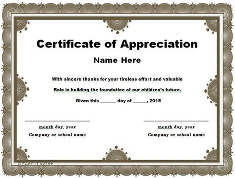 certificate of appreciation template 31 free certificate of appreciation templates and letters free template downloads