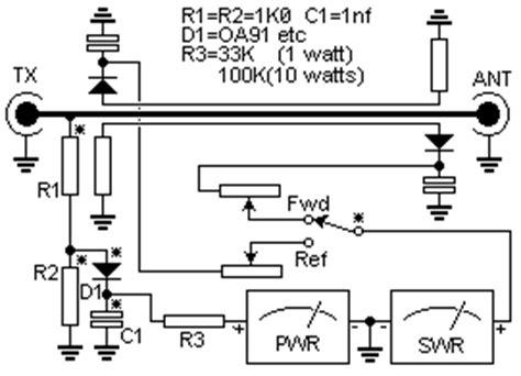 simple swr  pwr meter   wiring diagram