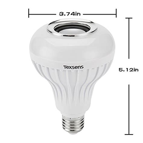 texsens led light bulb with integrated bluetooth speaker