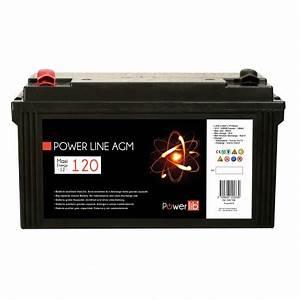 Batterie Agm Camping Car : batterie cellule stationnaire power line agm 120 ah d charge 100 ~ Medecine-chirurgie-esthetiques.com Avis de Voitures