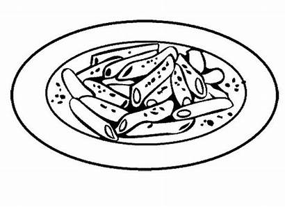 Coloring Cheese Macaroni Pasta Pages Drawing Chuck