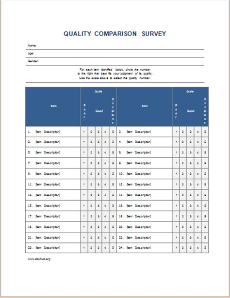 editable survey form templates  ms word document hub