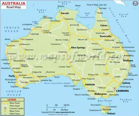 australia map holidaymapqcom