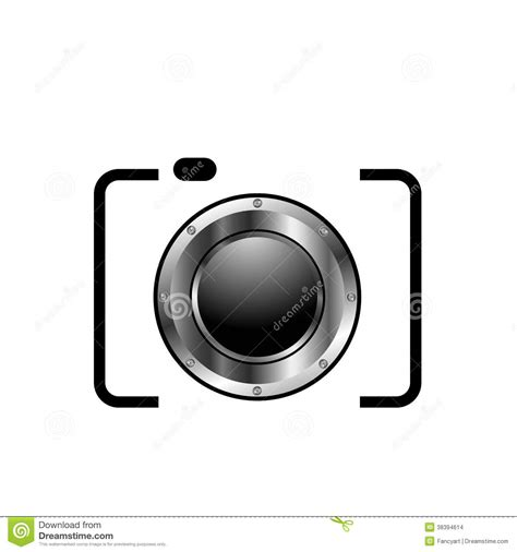 digital camera photography logo stock illustration