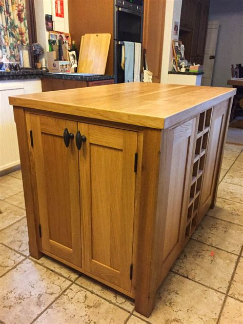 kitchen island units uk kitchen island unit made from solid oak