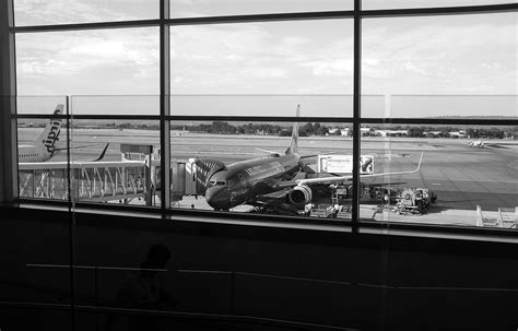 airport plane travel monochrome wallpapers black