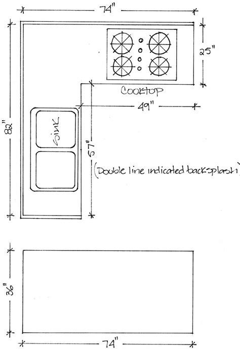 Kitchen Countertop Dimensions Standard  Lshape1