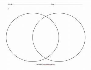 Pritable Venn Diagram Graphic Organizer
