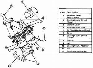 Remove 1995 Gmc Vandura G3500 Steering Column Shroud