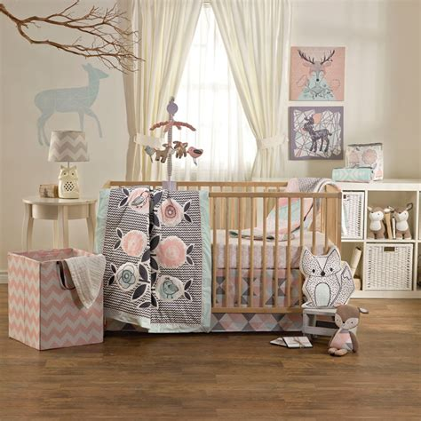 crib sheet sets sparrow 4 crib bedding set by lolli living