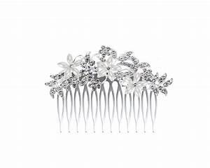 Peigne Cheveux Mariage : peigne de mariage jarosse avec fleurs en strass et perles ivoires ~ Preciouscoupons.com Idées de Décoration