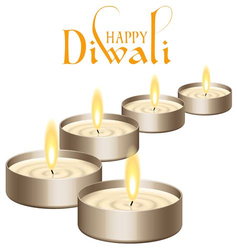 Happy Diwali Candles Png Clipart Image Gallery