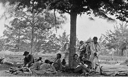 Battle Soldiers Union Fredericksburg Wounded Native War