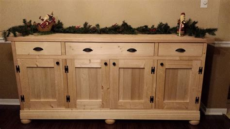 ana white planked wood sideboard diy projects