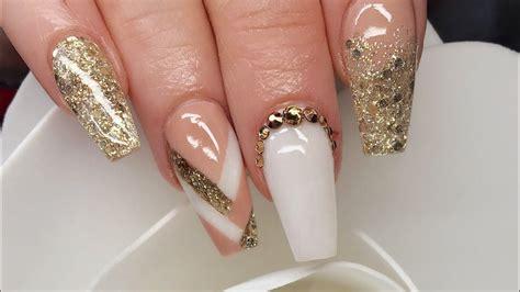 acrylic nails braid nail colour blocking acrylic
