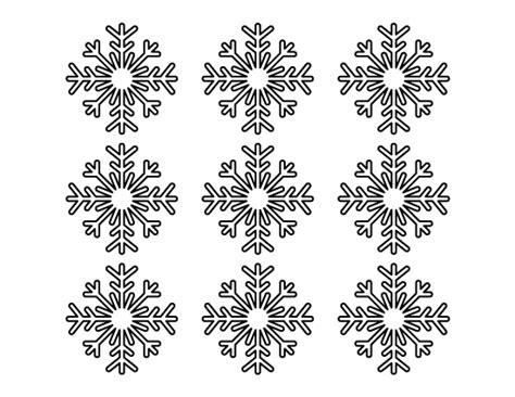 small snowflake template printable small snowflake template