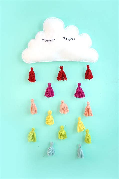 felt cloud kids wall decor damask love