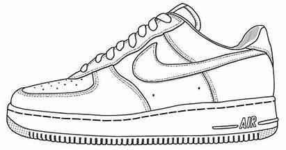 Template Sneaker Printable Drawing Sketch Sneakers