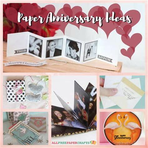 homemade anniversary gifts  year  paper anniversary