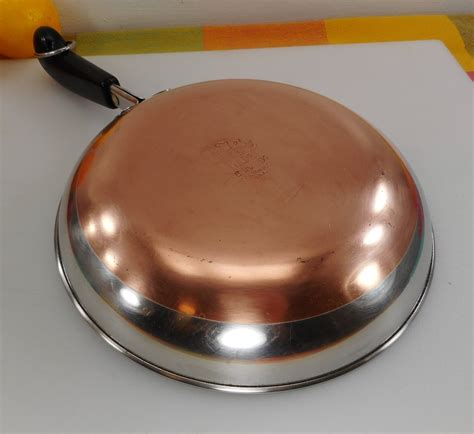 revere ware  omelet pan  clinton ill usa stainless steel copp olde kitchen