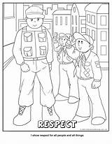 Respect Coloring Pages Cub Scout Scouts Printable Wolf Tiger Boy Activity Core Activities Crafts Worksheets Printables Others Scouting Makingfriends Myself sketch template
