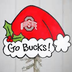 ohio state buckeyes christmas tree topper everything