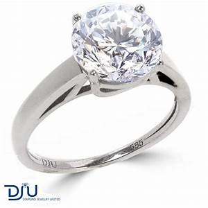 2 20 ct e si3 round diamond solitaire engagement ring 14k With 2 ct wedding rings