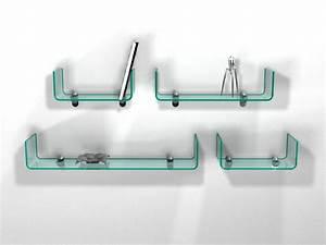 Etagere En Verre : handle tag re en verre courb ~ Farleysfitness.com Idées de Décoration