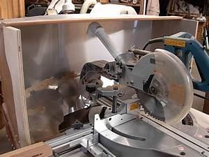 work bench dust catcher Miter Saw Cabinet and Dust
