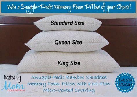 shredded memory foam pillow snuggle pedic bamboo shredded memory foam pillow giveaway