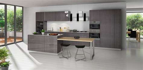 It also features a coarse and highly visible grain pattern, which makes it a popular choice. Grey Oak Modern Kitchen Cabinets Door Style - Modern RTA ...