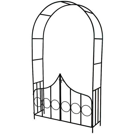 arche de jardin pour plantes grimpantes arche de jardin pour plantes grimpantes et rosiers 240 cm 2 portes en acier vert fonc 233 400766