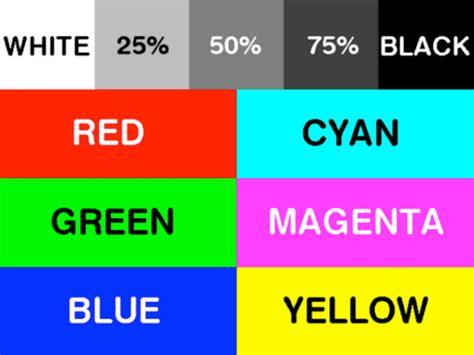 33 color print test page colour laser printer test page