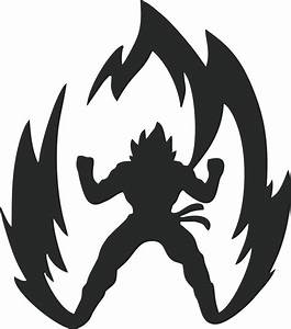 Dragon Ball Z Super Saiyan Goku Anime Car Window Laptop