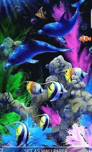 aquarium fonds decran animes application android