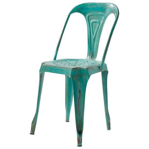 chaise indus en metal verte multipls maisons du monde