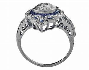 engagement ring fleur de lis art deco diamond engagement With fleur de lis wedding rings