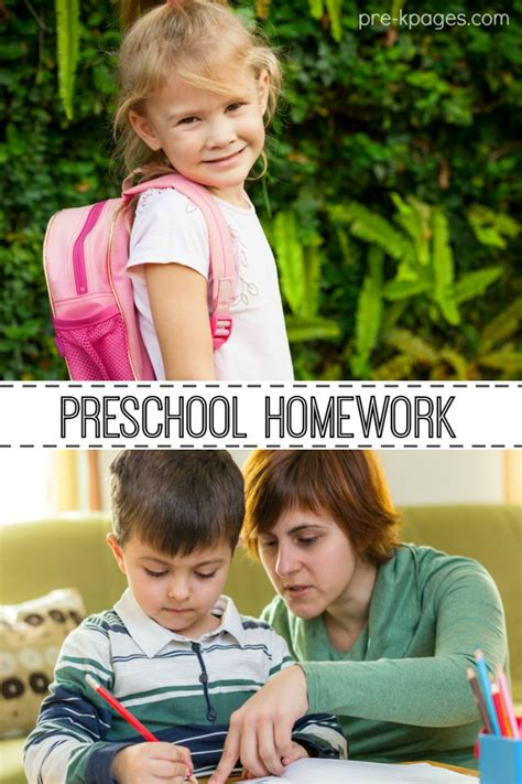 homework for pre k and kindergarten 732 | preschool homework