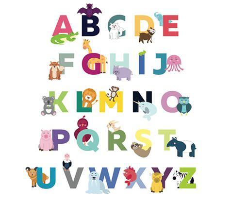 alphabet animals  behance