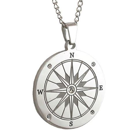 Engravable Stainless Steel Compass Pendant  Forallgifts. Conductor Watches. Diamond Pendant Chains. Symbol Necklace. Small Pendant. Rolex Datejust Platinum. Apatite Rings. Baptism Pendant. Video Beads