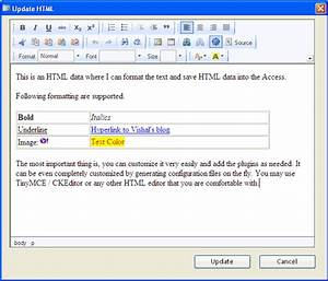 ms access html editor control to use in forms With microsoft html viewer