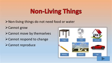 living and non things ppt