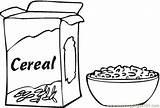 Coloring Breakfast Pages Cereal Box Clipart Printable Cereals Clip Drawing Preschool Worksheets Para Kindergarten Bowl Colorear Cartoon Healthy Preschoolactivities Dibujos sketch template