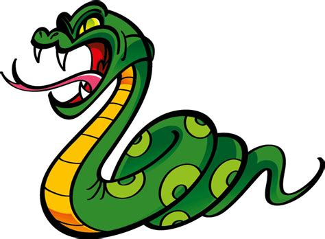 Angry Snake Animal Cartoon Car Bumper Sticker Decal 5