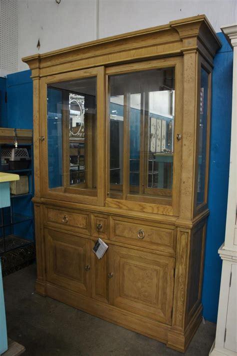 sliding door china cabinet bernhart china cabinet with sliding glass door