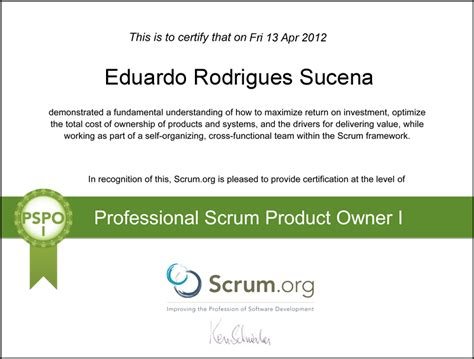 Agile Scrum Product Owner Resume by Professional Scrum Product Owner Simulator